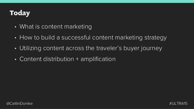 What is Content Marketing? How to Build a Successful Content Strategy Content Distribution + Amplification Utilizing Conten...