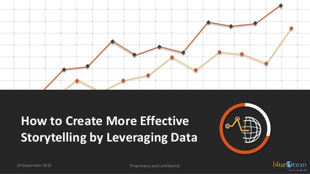 How to Create More Effective Storytelling by Leveraging Data 29 September 2015 Proprietary and Confidential