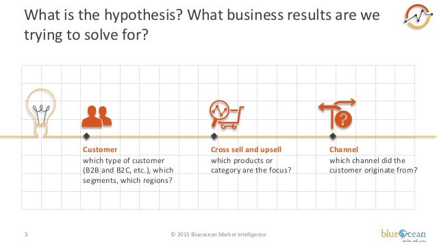 What is the hypothesis? What business results are we trying to solve for? © 2015 Blueocean Market Intelligence3 Customer w...