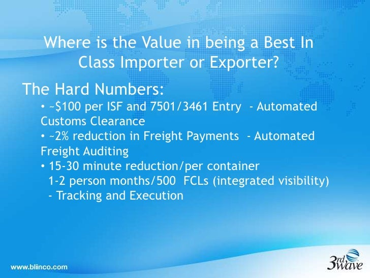 Best practices in importing exporting - webinar mar 03,2012