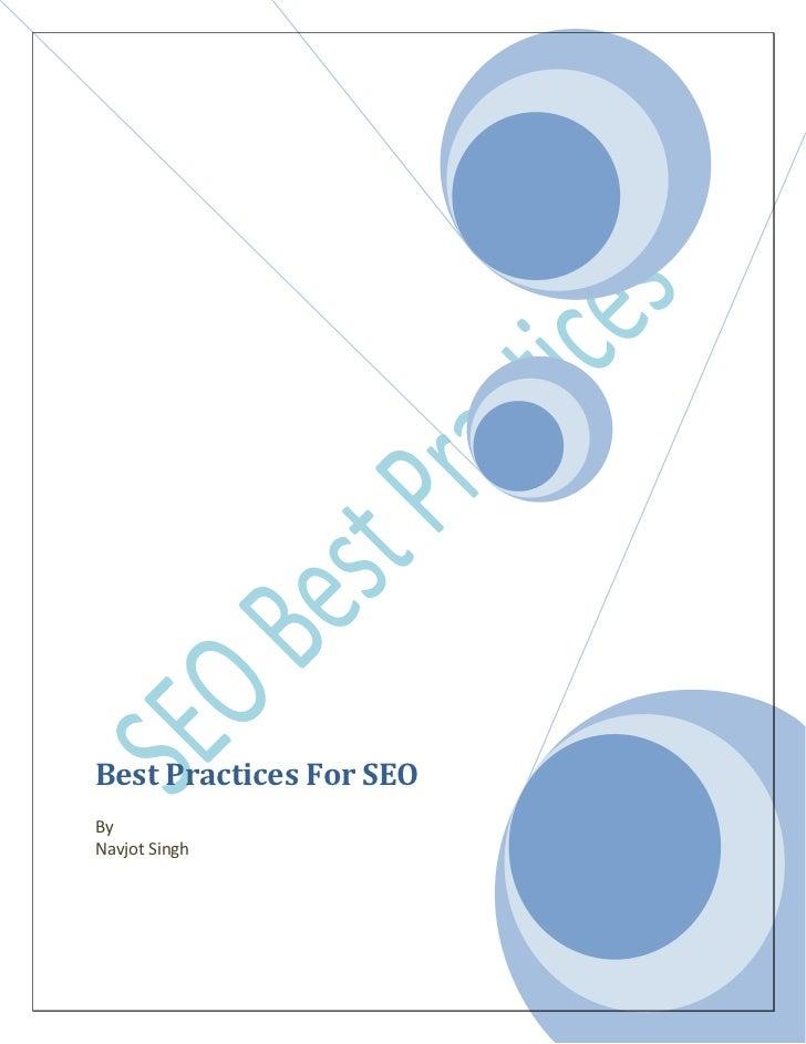 Best Practices For SEOByNavjot Singh