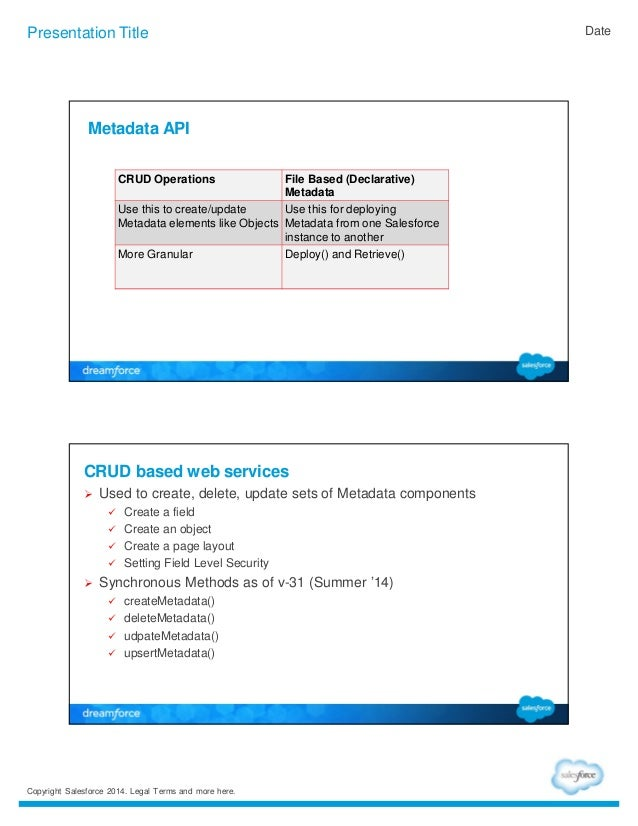 Best practices in using Salesforce Metadata API