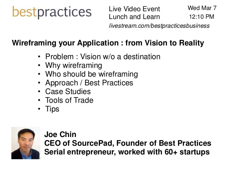 Live Video Event            Wed Mar 7                             Lunch and Learn             12:10 PM                    ...