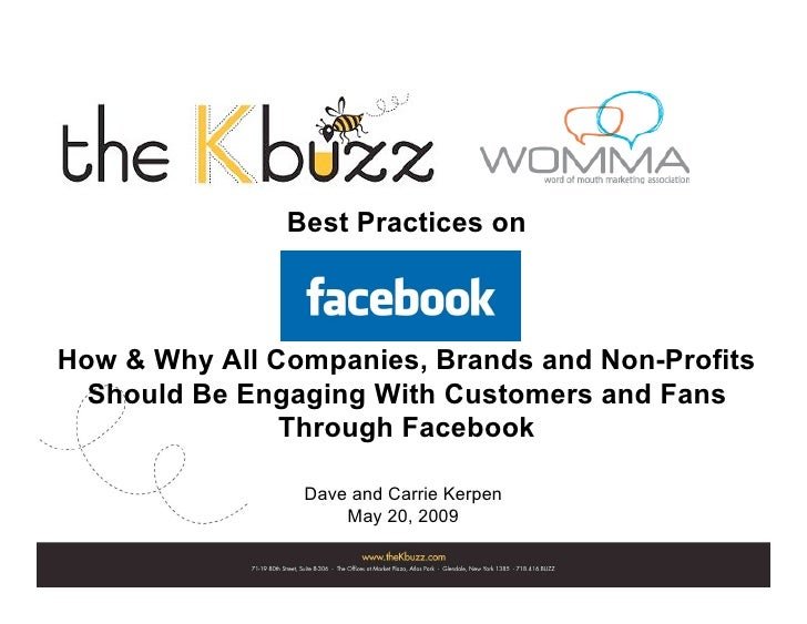 Best Practices on    How & Why All Companies, Brands and Non-Profits   Should Be Engaging With Customers and Fans         ...