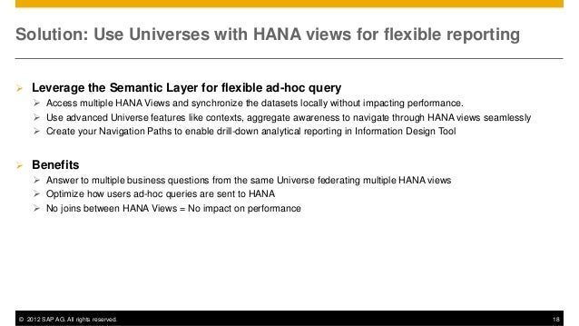 Best Practices Reporting On Hana