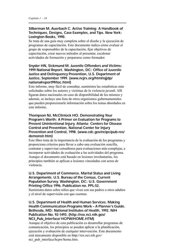 Capítulo 1 - 37  Centro Nacional de Información sobre Maltrato y Abandono Infantil  330 C St., SW  Washington, DC 20447  T...