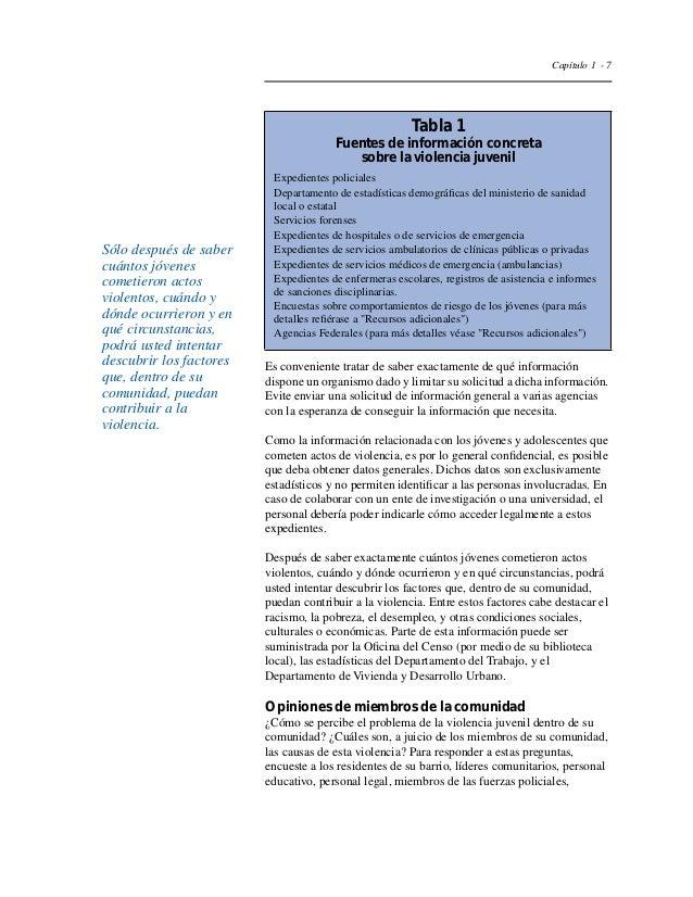 Capítulo 1 - 10  Tabla 2  Grupos de participantes potenciales para  intervenciones de prevención de la violencia juvenil  ...