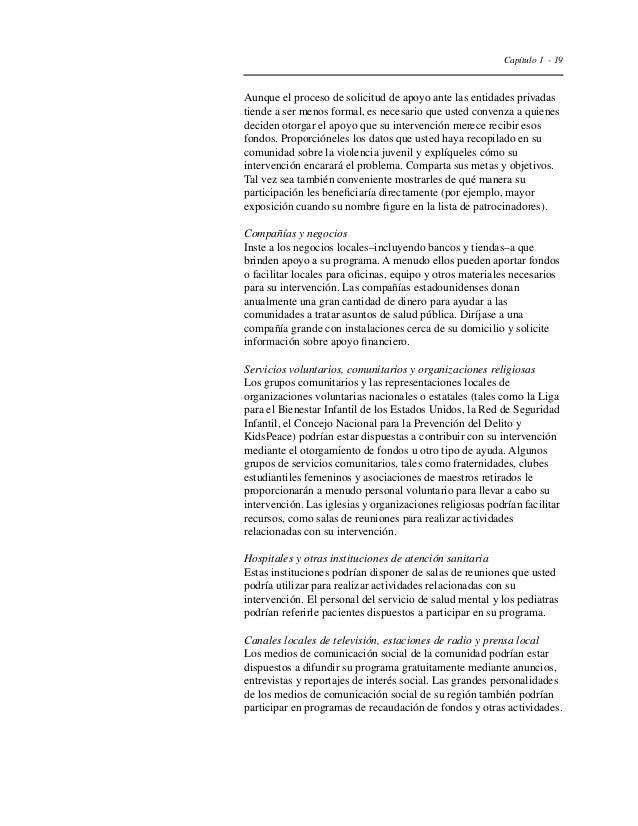 Capítulo 1 - 22  Tabla 6  Organizaciones que podrían participar en  sus esfuerzos de prevención de la violencia juvenil  A...