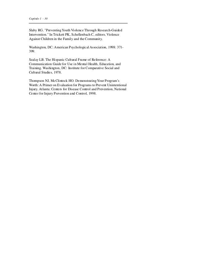 Capítulo 1 - 33  Kaufman P, Chen X, Choy SP, Ruddy S, Miller A, Chandler K,  et al. Indicators of School Crime and Safety,...
