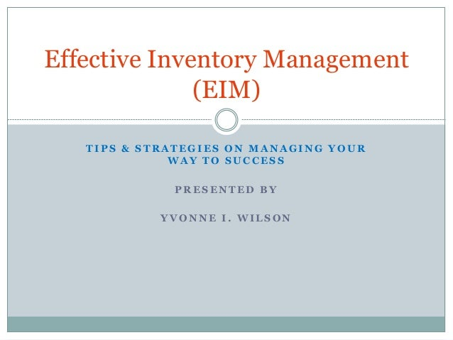 Inventory Management