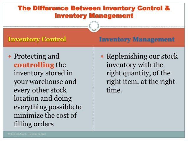 The effectiveness of inventory management