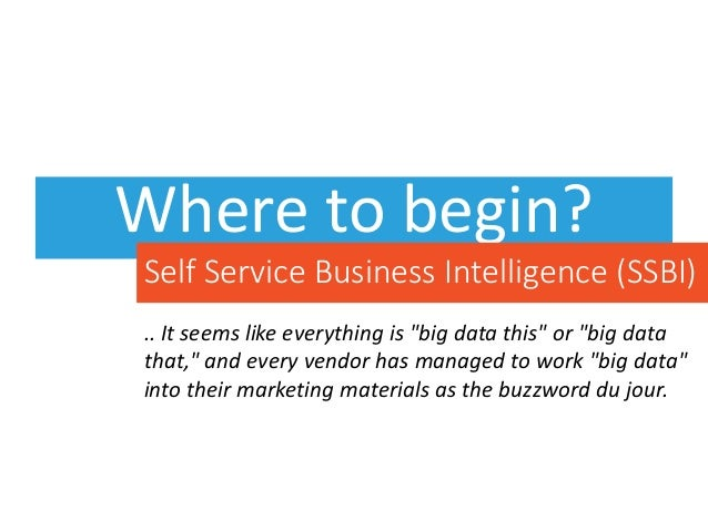 """Where to begin? .. It seems like everything is """"big data this"""" or """"big data that,"""" and every vendor has managed to work """"b..."""