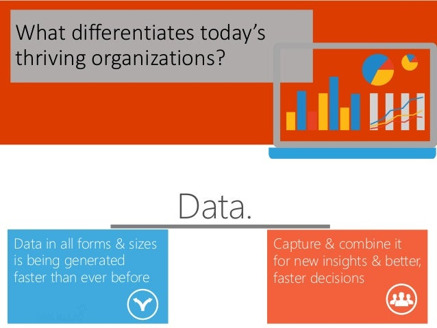 What differentiates today's thriving organizations? Data. Data in all forms & sizes is being generated faster than ever be...