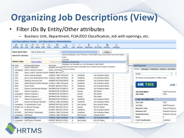 Best/Next Practices in Job Description Design and Management-HRTMS Jo…