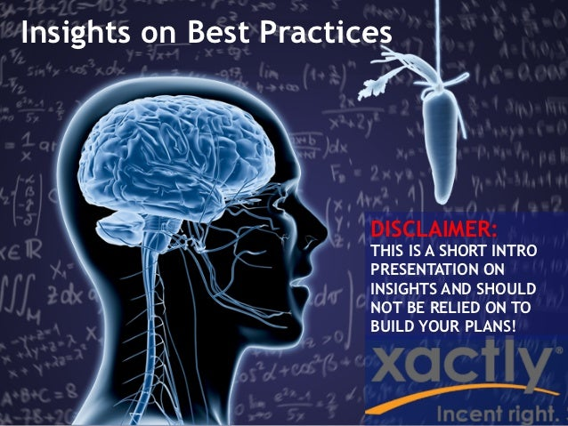 Insights on Best Practices                        DISCLAIMER:                        THIS IS A SHORT INTRO                ...