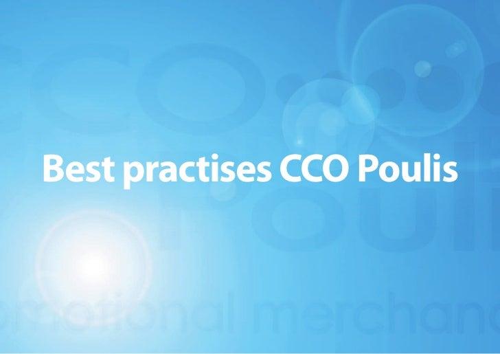 Best practises CCO Poulis