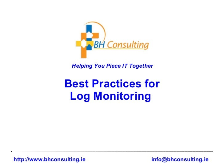 Best Practices for Log Monitoring