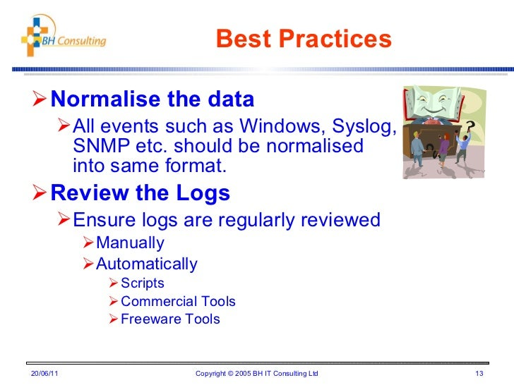 Best practises for log management for Syslog ng template example