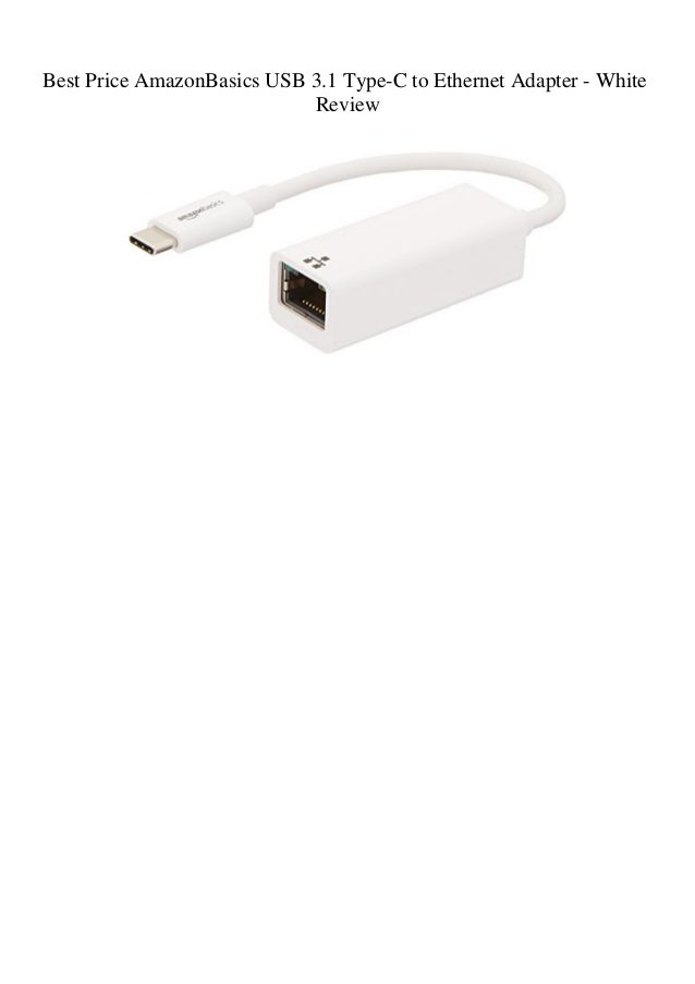 White Basics USB 3.1 Type-C to Ethernet Adapter