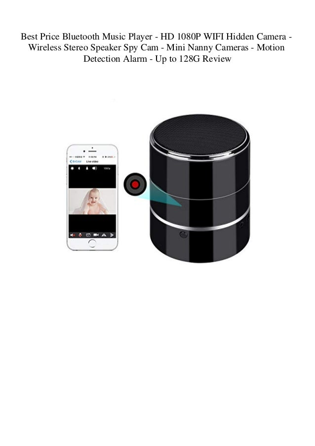 Wifi HD SPY Hidden Camera Bluetooth Speaker Video Recorder Nanny Cam Mini 1080P