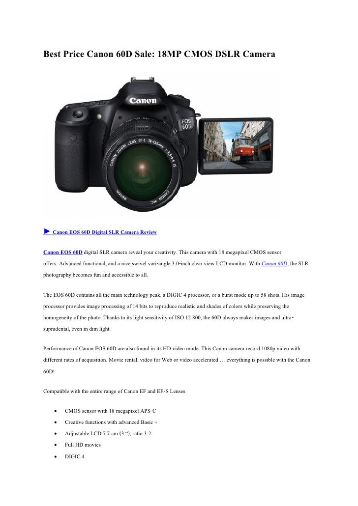 best price canon 60 d sale