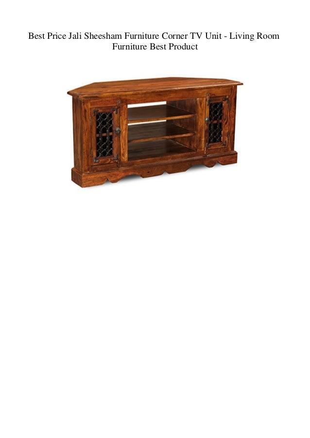 Best Price Jali Sheesham Furniture Corner TV Unit - Living Room Furni…