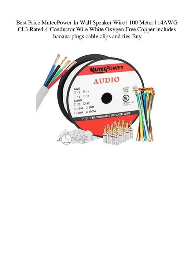 Best Price MutecPower In Wall Speaker Wire 100 Meter 14AWG