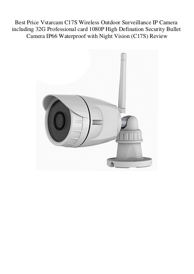 VStarcam C17S 1080P IP66 Waterproof Outdoor Night Vision Security WIFI IP Camera