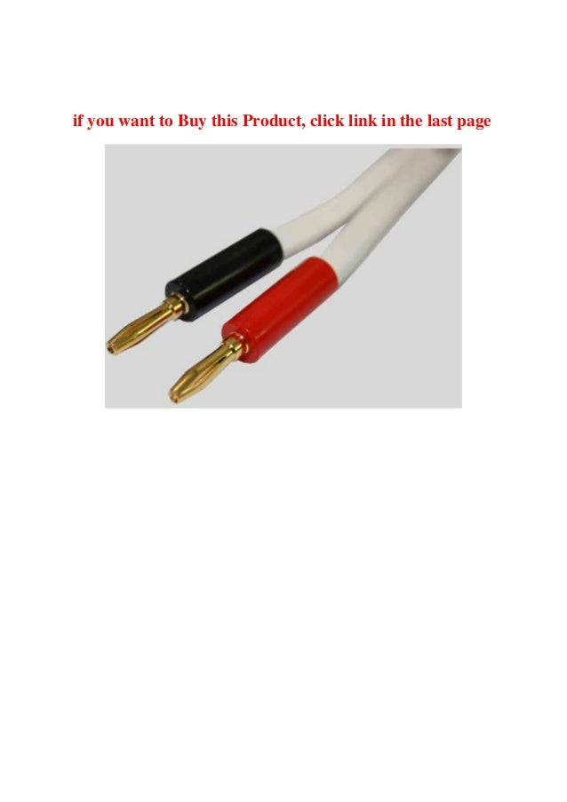 Best Product Rega Duet Speaker Cable (Terminated with High