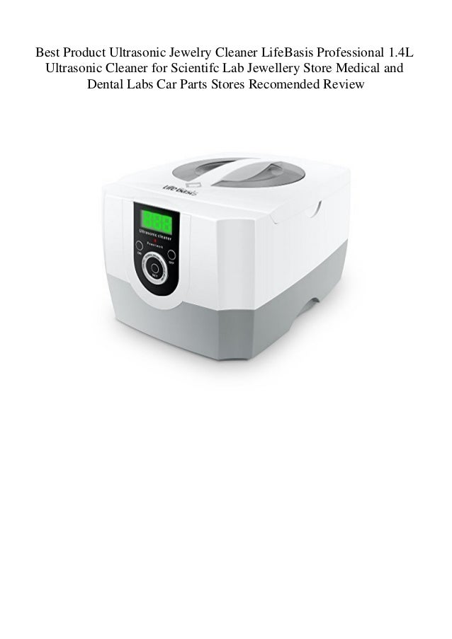 Best Product Ultrasonic Jewelry Cleaner LifeBasis