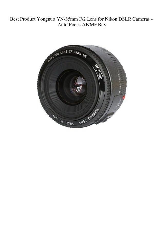 Auto Focus AF/MF Yongnuo YN-35mm F/2 Lens for Nikon DSLR Cameras ...