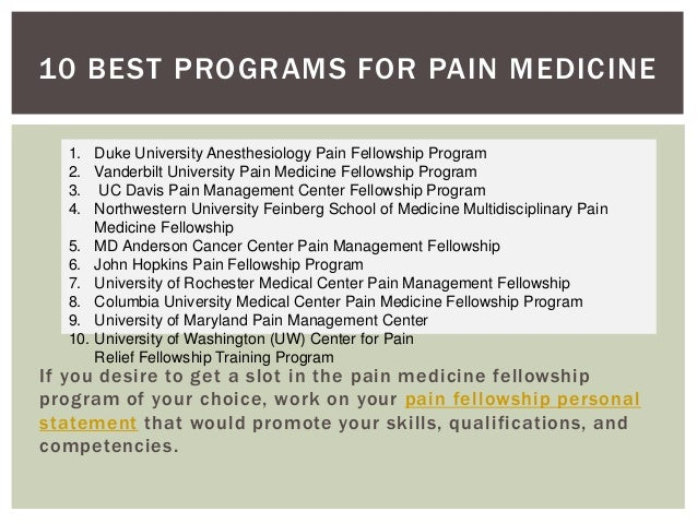 Best programs for medicine fellowship