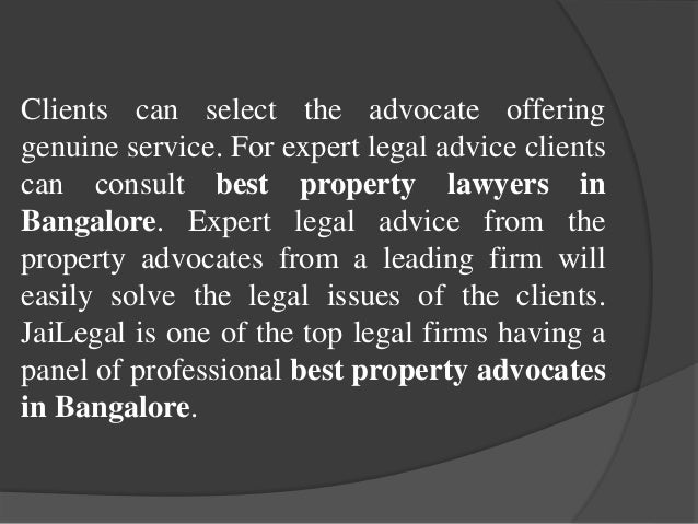 Best property lawyers in Bangalore Slide 3