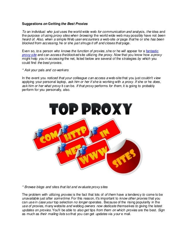 Best proxy sites