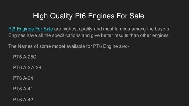 Buy Popular Pt6 Engines For Sale