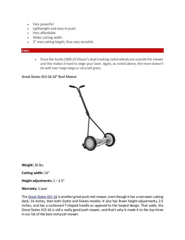 Best Push Reel Mower Reviews   Top Picks and Buying Guide