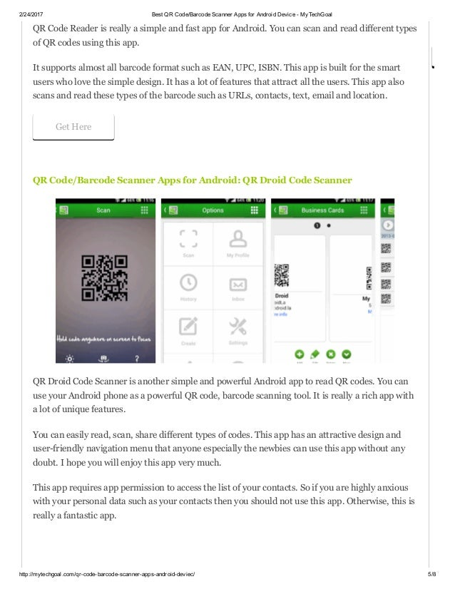 Best qr code barcode scanner apps for android device