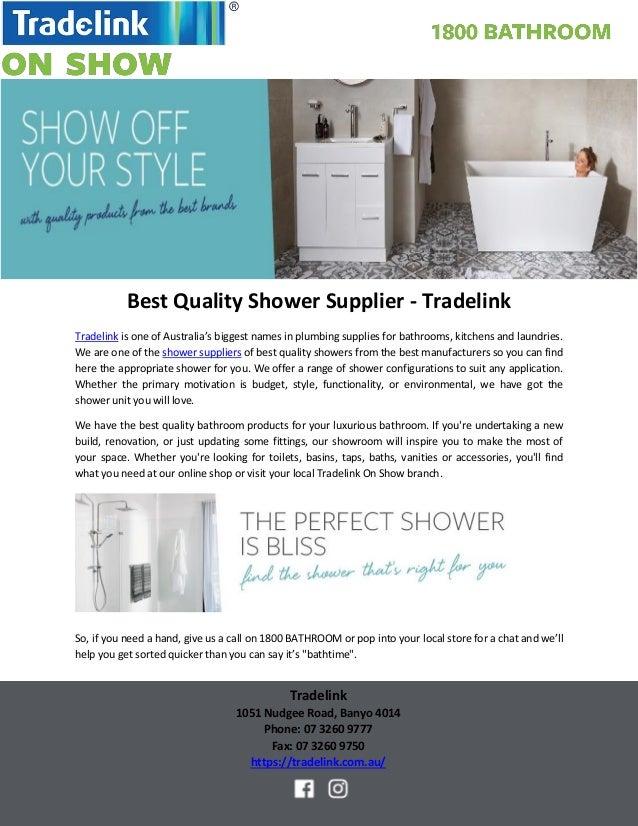 Best Quality Shower Supplier Tradelink