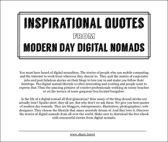 Best Quotes From Digital Nomads Slide 2