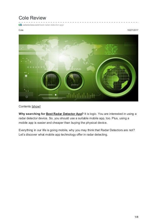 Radar Detector App >> Best Radar Detector App