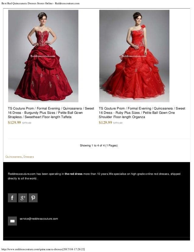 Best red quinceanera dresses stores online reddresscouture.com
