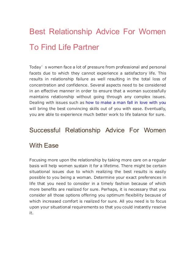 Separation advice for men