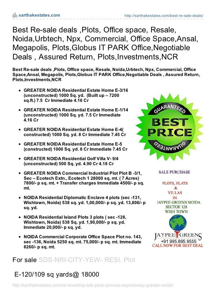 sarthakestates.com                                   http://sarthakestates.com/best-re-sale-deals/Best Re-sale deals ,Plot...