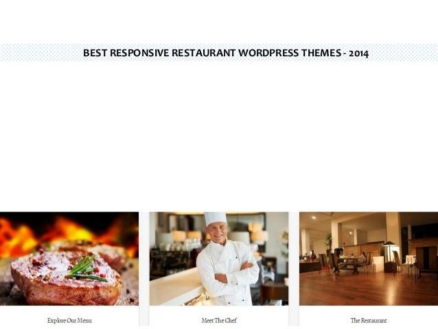 BEST RESPONSIVE RESTAURANT WORDPRESS THEMES - 2014