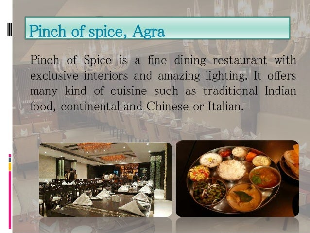 Best restaurants in india for Agra fine indian cuisine