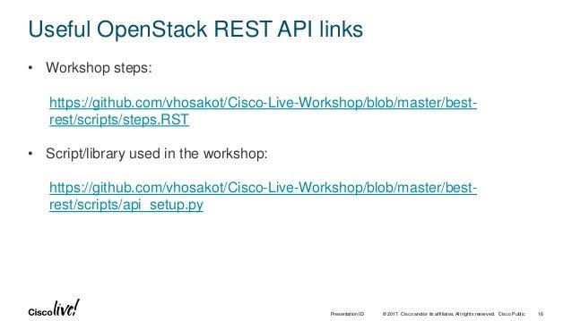 Best REST in OpenStack Cloud