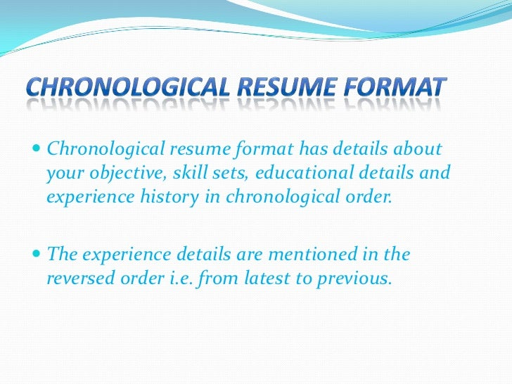 resume format 4 - Types Of Resume Format