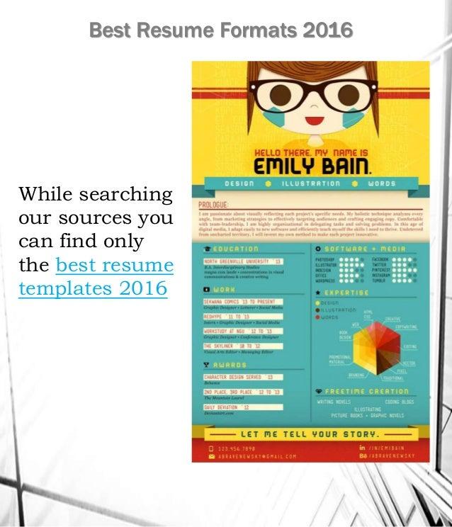 best resume formats 2016 20 - Best Resume