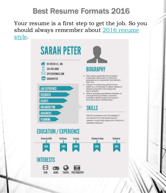 the best resume formats 2016 . best resume styles