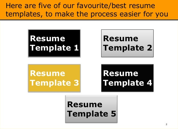 best ms word resume templates free